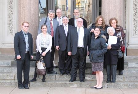 Bergen County delegates advocate on behalf of Jewish day schools with Trenton legislators.