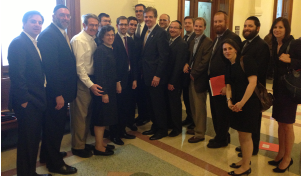Jewish Leaders with Sen. Education Committee Chair Dan Patrick (Center).